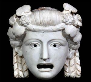 antica maschera del teatro greco