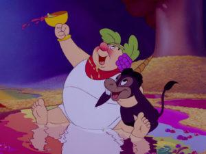 Il Dio Bacco nel cartone animato Fantasia