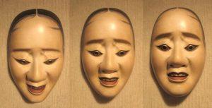 tre maschere del teatro no giapponese