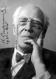 Foto dell'attore, regista e teorico del teatro Konstantin Sergeevič Stanislavskij